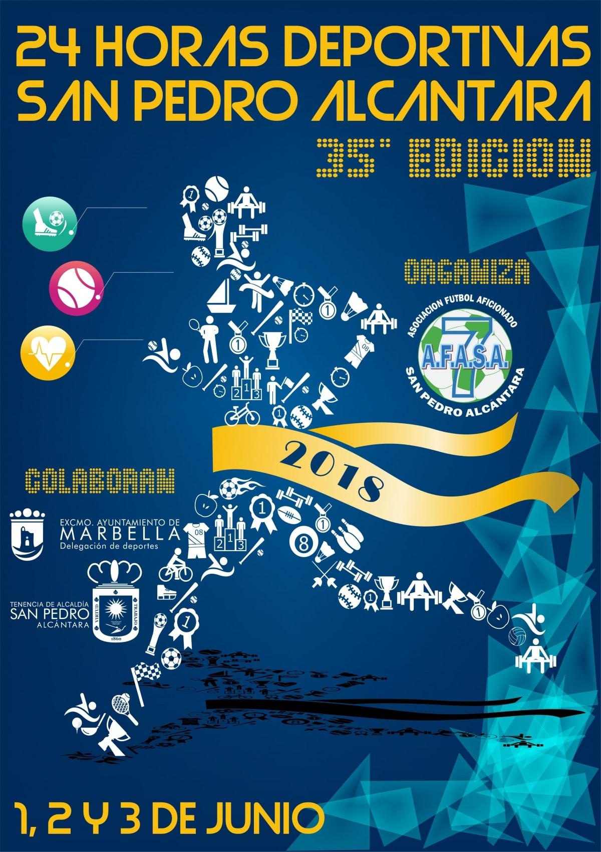 San Pedro Alcántara celebrará la 35ª edición de las 24 Horas Deportivas del 1 al 3 de junio con una previsión de participación de 3.000 deportistas
