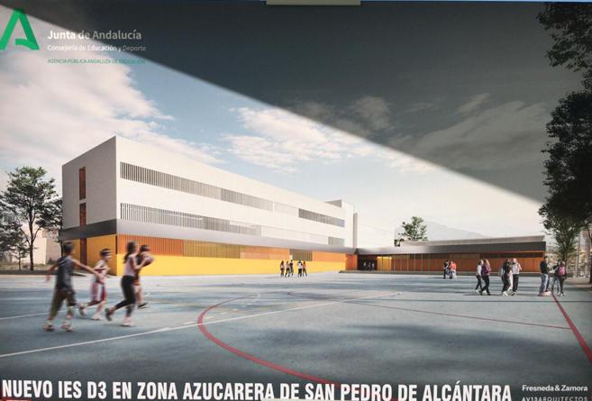 El nuevo Instituto de Enseñanza Secundaria de San Pedro ya tiene la primera piedra
