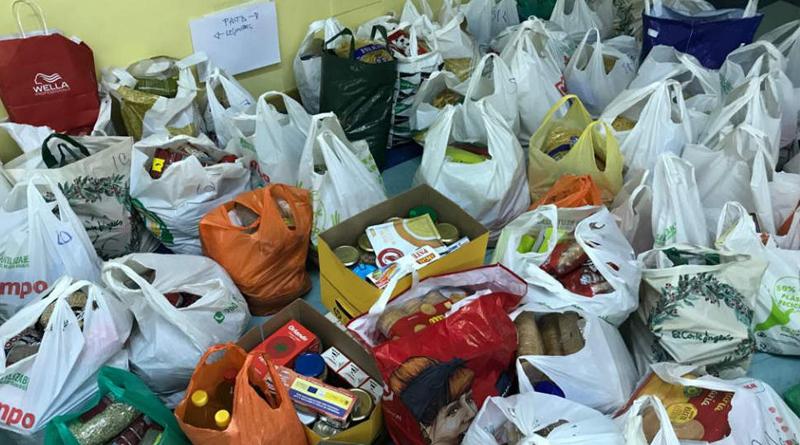 Recogida de alimentos en los colegios de San Pedro