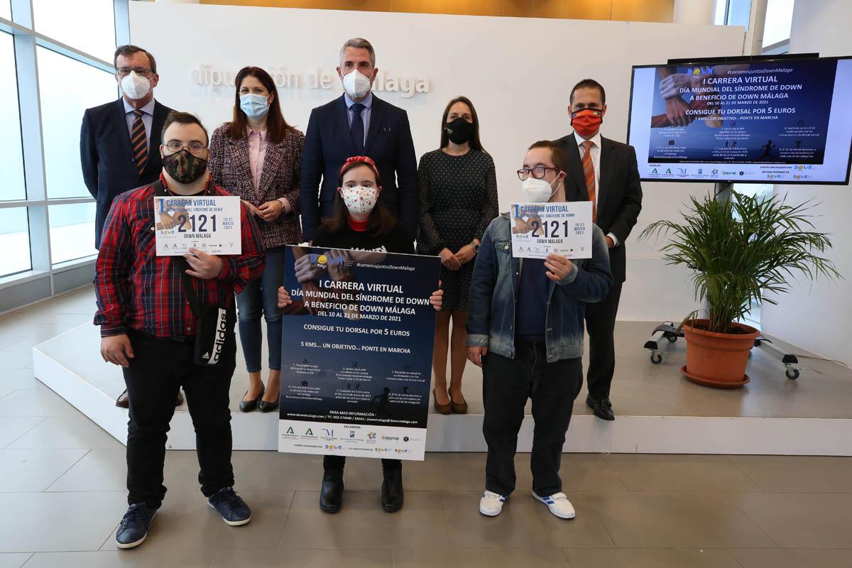 Hoy arranca la I Carrera Virtual a Beneficio de la Asociación Down Málaga